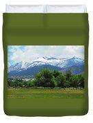 Mountain View - Reno Nevada Duvet Cover