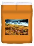 Mountain Village Autumn Duvet Cover