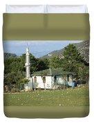 Mountain Village Mosque Duvet Cover