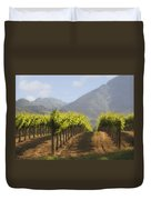 Mountain Vineyard Duvet Cover