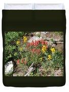 Mountain Wild Flowers Duvet Cover