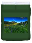 Mountain Wildflowers And Light Whispers Duvet Cover