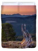 Mountain Wood Formation Duvet Cover
