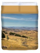 Mountainous Terrain In Central Oregon Duvet Cover
