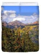 Mountains Aglow Duvet Cover