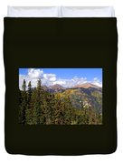 Mountains Aglow Duvet Cover