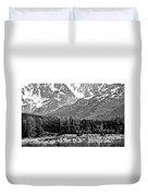 Mountains Alaska Bw Duvet Cover