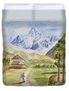 Mountains And Valley Duvet Cover