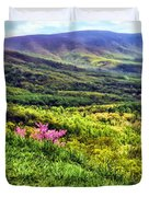Mountains And Valleys Duvet Cover