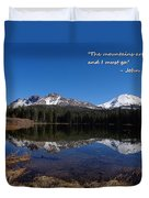 Mountains Are Calling Duvet Cover