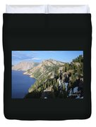 Mountains Around Crater Lake Duvet Cover