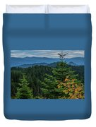 Mountains Around Priest Lake Duvet Cover