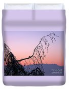 Mountains At Dusk Duvet Cover