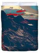 Mountains By Red Road Duvet Cover