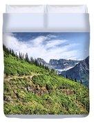 Mountains In Glacier National Park 1 Duvet Cover