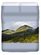 Mountains In Morning Light Duvet Cover