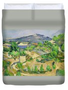 Mountains In Provence Duvet Cover by Paul Cezanne