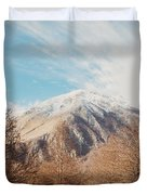 Mountains In The Background Xvi Duvet Cover
