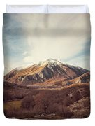 Mountains In The Background Xvii Duvet Cover