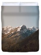 Mountains In The Background Xviii Duvet Cover