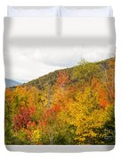 Mountains In The Fall Colors Duvet Cover