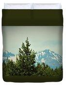 Mountains Of Oregon Duvet Cover