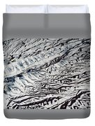 Mountains Patterns. Aerial View Duvet Cover