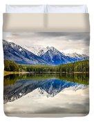 Mountains Reflected In The Lake Duvet Cover