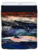 Mountains Valleys And Lake Duvet Cover