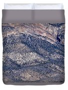 Mountainside Abstract - Red Rock Canyon Duvet Cover