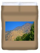 Mountainside From Wealthy Neighborhood Above Santiago-chile Duvet Cover