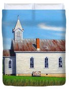 Mountain View Church Duvet Cover