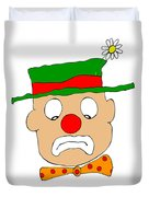 Mournful Clown Duvet Cover