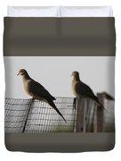Mourning Doves Calverton New York Duvet Cover