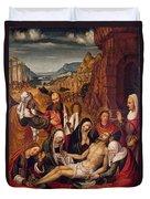 Mourning Over The Dead Body Of Christ Duvet Cover