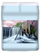 Mousam River Waterfall In Kennebunk Maine Duvet Cover