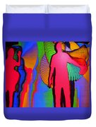 Human Movement In Color Duvet Cover