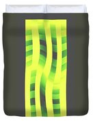 Moveonart Yellowlimegreenwave Duvet Cover