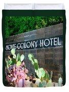 Movie Colony Hotel Palm Springs Duvet Cover