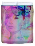 Movie Icons - Audrey Hepburn Vi Duvet Cover