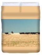 Moving The Herd Duvet Cover