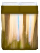 Moving Trees 15 Gold Brown Duvet Cover
