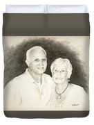 Mr And Mrs B Duvet Cover