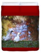 Mr And Mrs Duck Duvet Cover