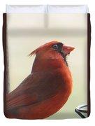 Mr Cardinal Duvet Cover by Maxine Billings
