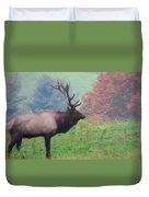 Mr Elk Enjoying The Autumn Duvet Cover