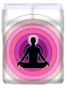 Meditation With Yoga Duvet Cover