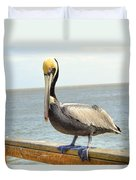 Mr. Pelican Duvet Cover