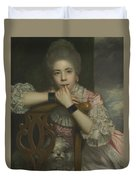 Mrs Abington As Miss Prue In Love For Love By William Congreve Duvet Cover