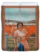 Mrs. Curry And Son Duvet Cover